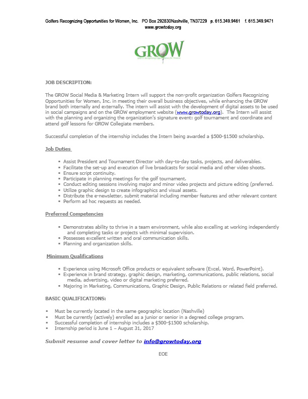 Office Intern Job Description Public Relations Intern Job